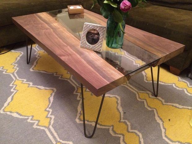 Оригинальный журнальный столик из спила дерева Мебель своими руками - BigHandMade