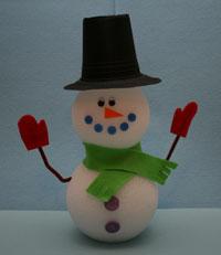 Поделки для детского сада.снеговик