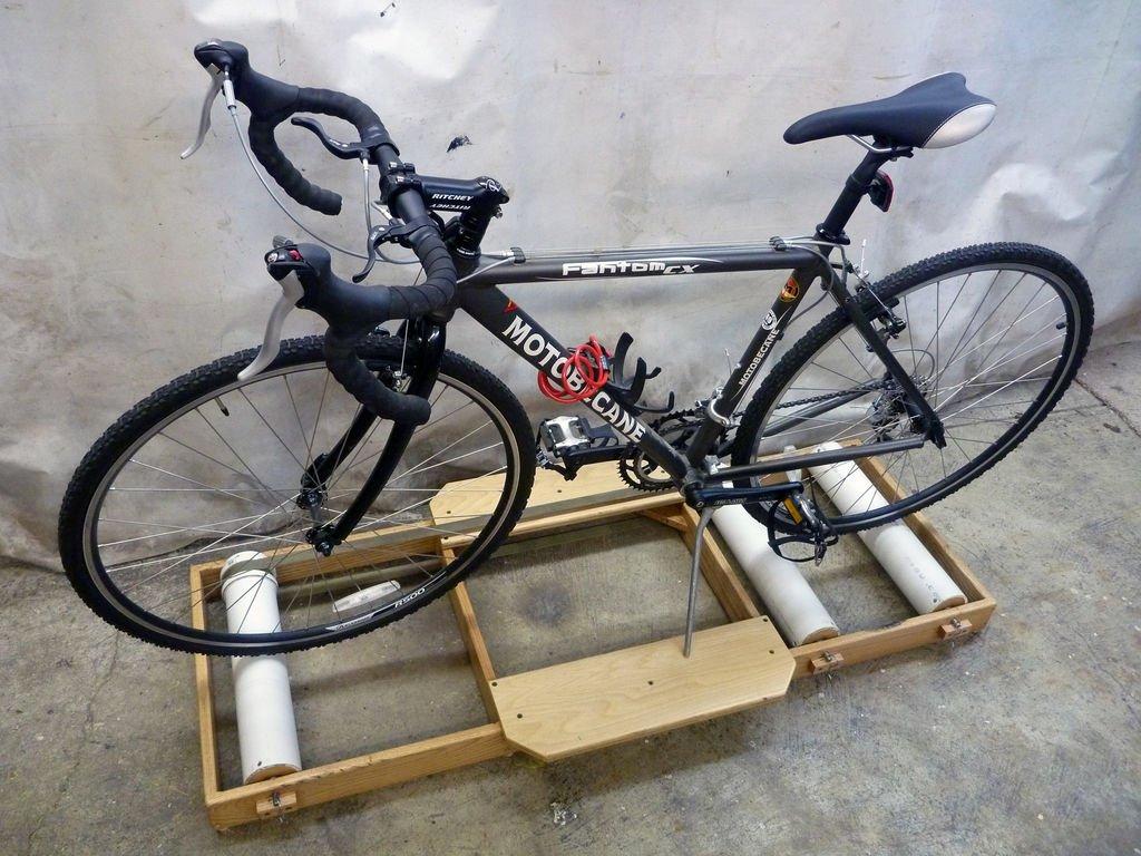 Как сделать велотренажёр из велосипеда