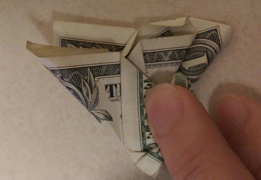 Бабочка своими руками из денежных купюр 88