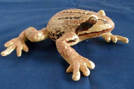 Как сделать лягушку из папье маше своими руками
