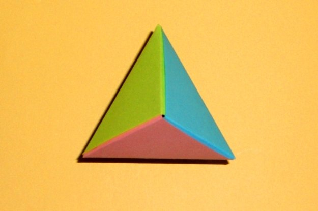 Поделки из бумаги тетраэдр оригами 59
