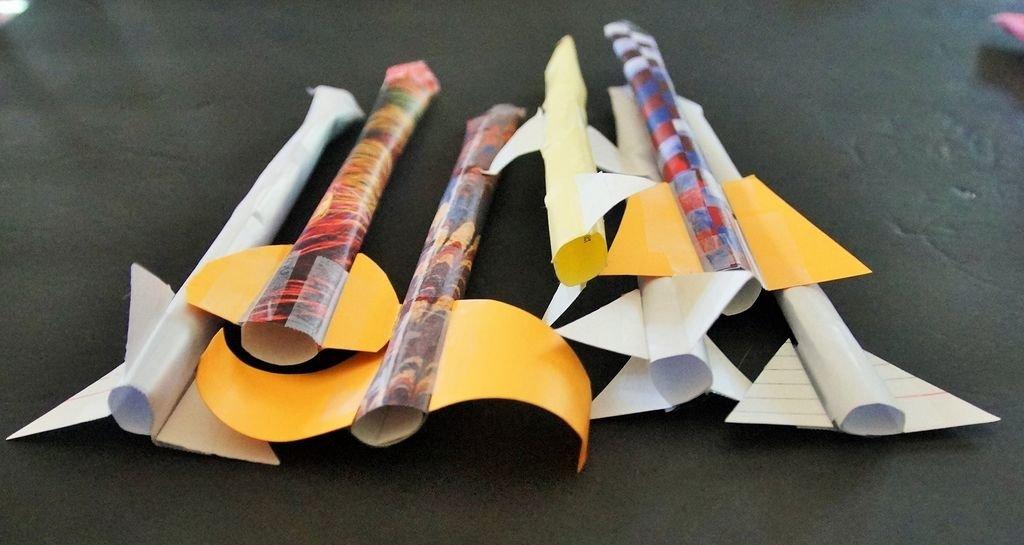 Поделки из бумаги своими руками ракета 57