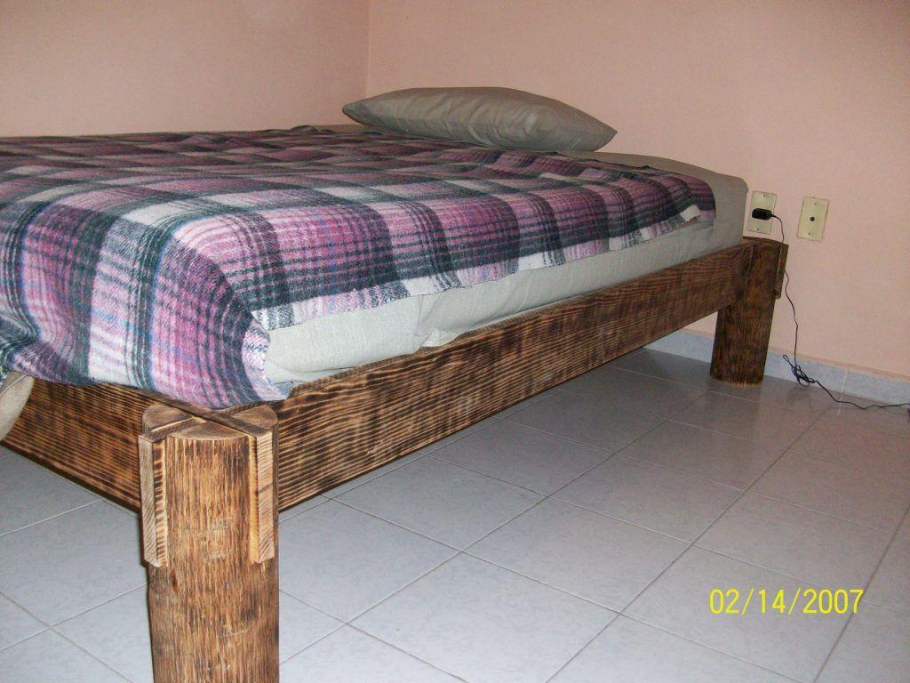 Дачная кровать из брусков