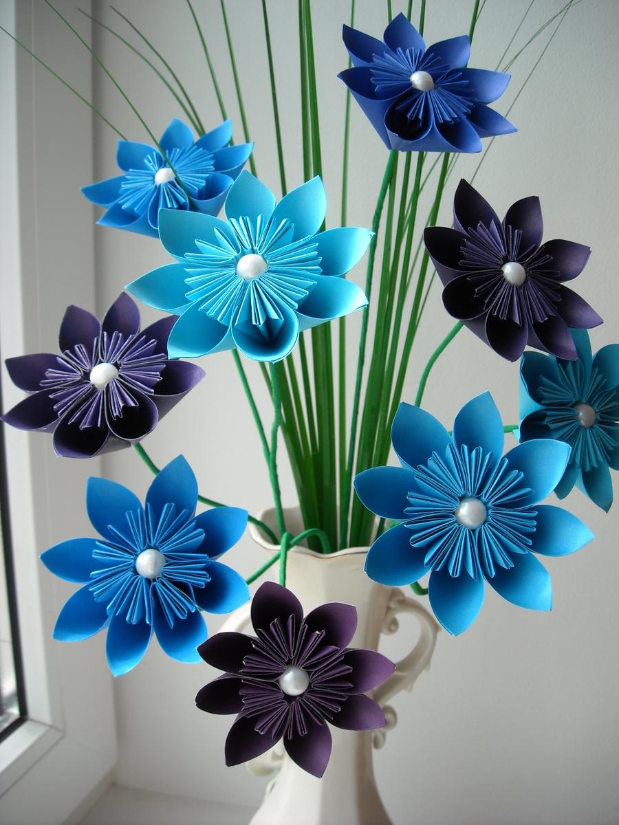 Цветок из бумаги для