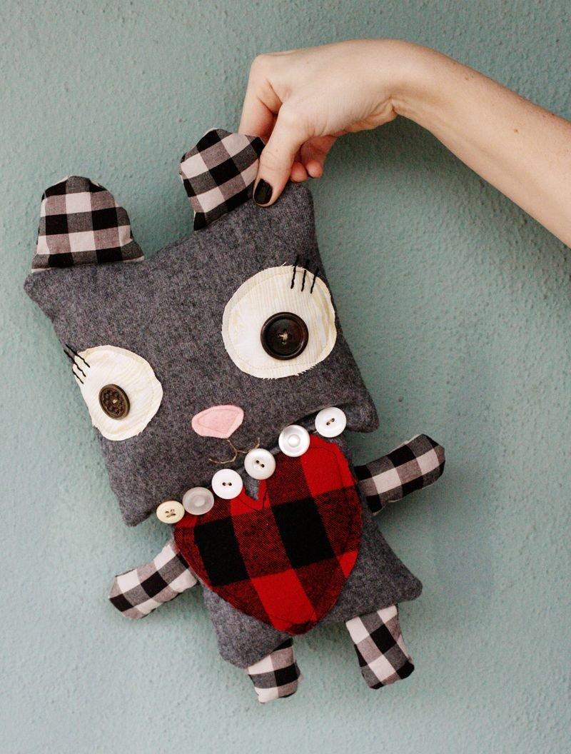 Оригинальные игрушки своими руками Мягкая игрушка кот своими руками 74