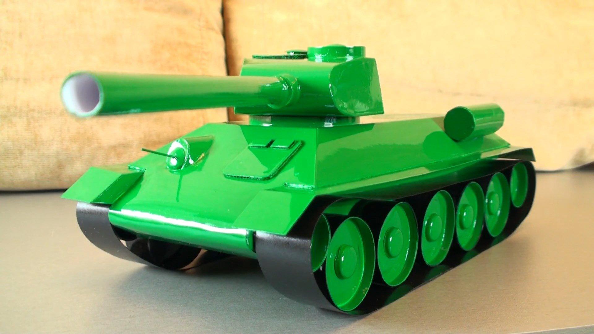 Как сделать из бумаги танк большой