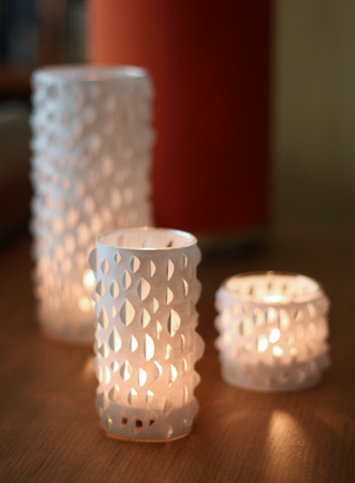 Подставки для свечей своими руками из бумаги