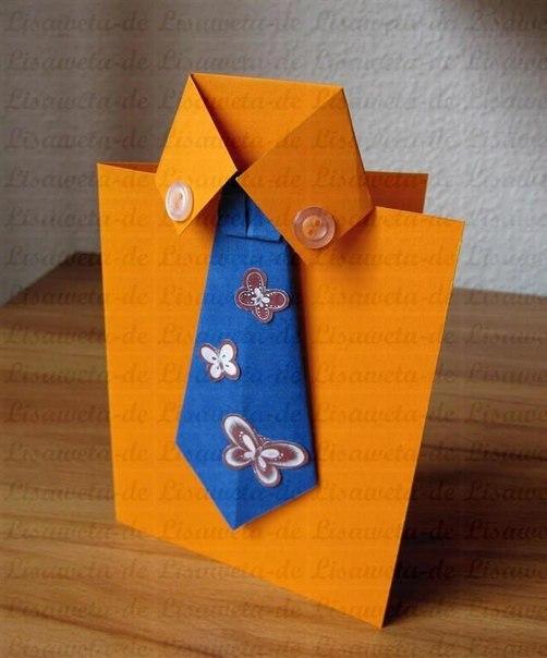Сделать открытку своими руками для мужчины с днем рождения