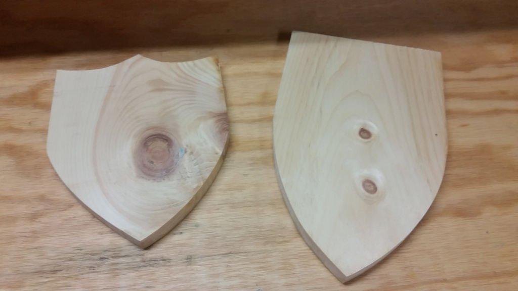 Как сделать свой щит из дерева 201