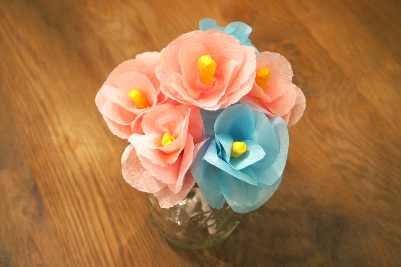 Цветы из бумаги фото и мастер класс