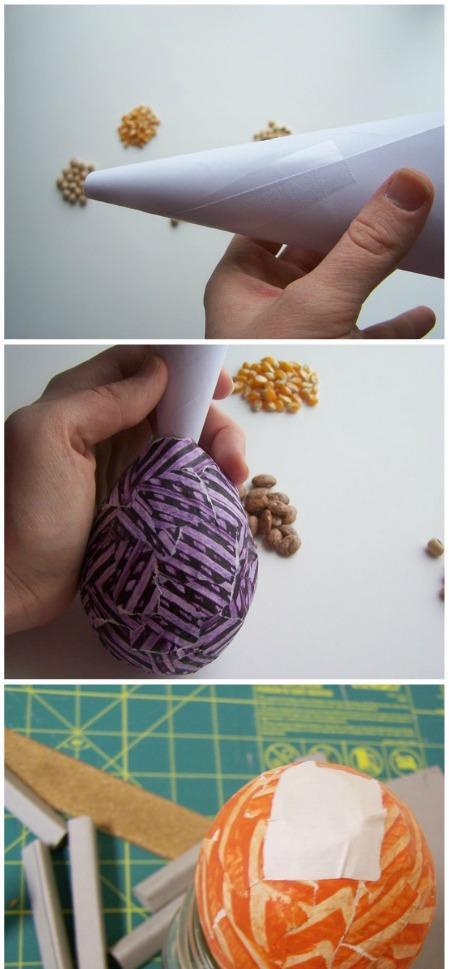 Как сделать маракасы из бумаги