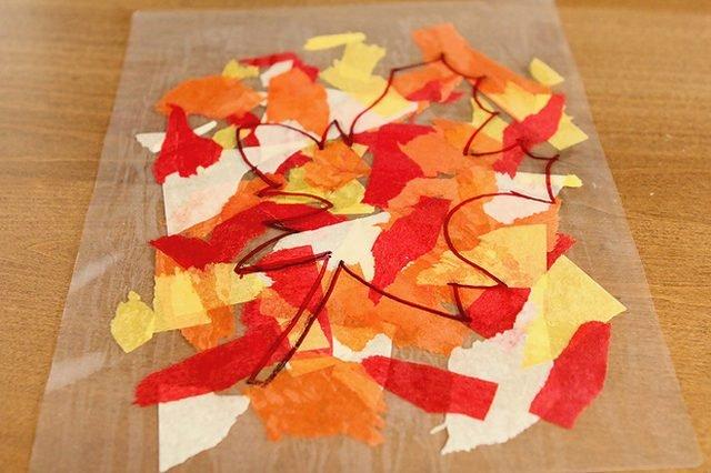 Большие осенние листья из бумаги своими руками 93