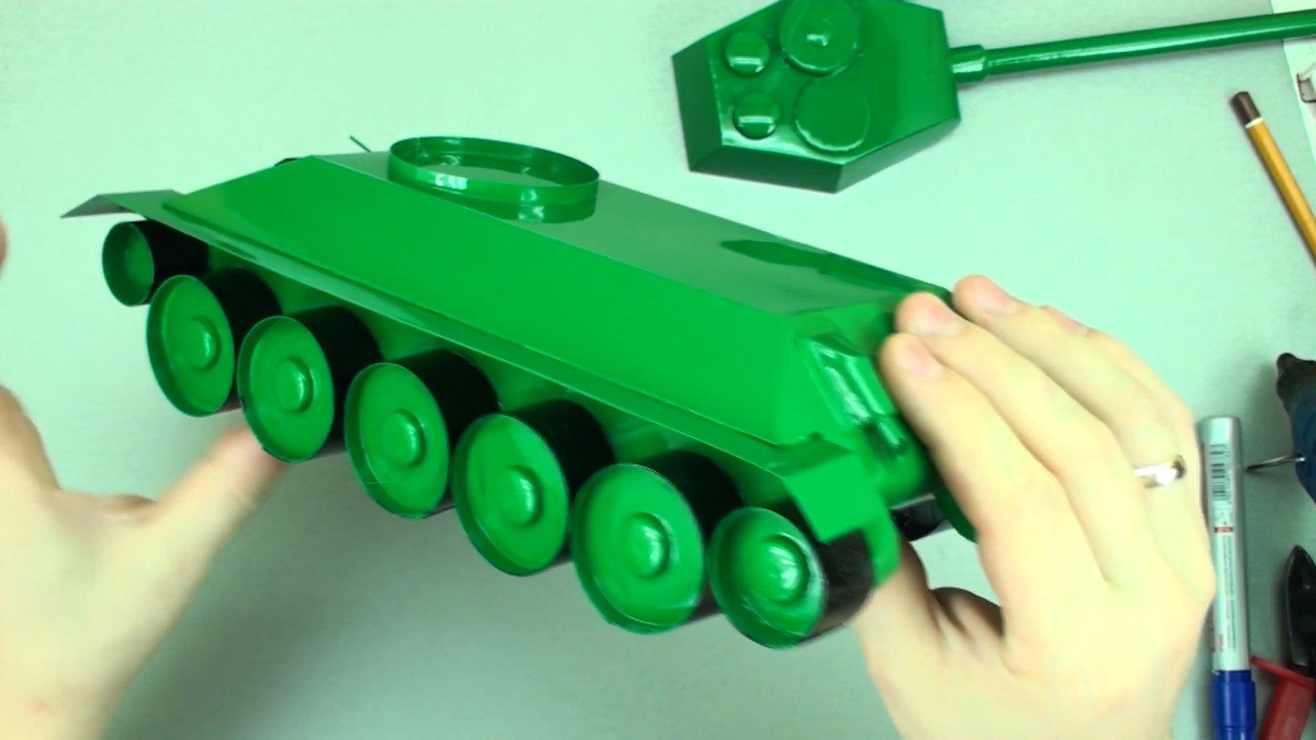 Собственный бумажный танк. Как сделать танк из бумаги 86