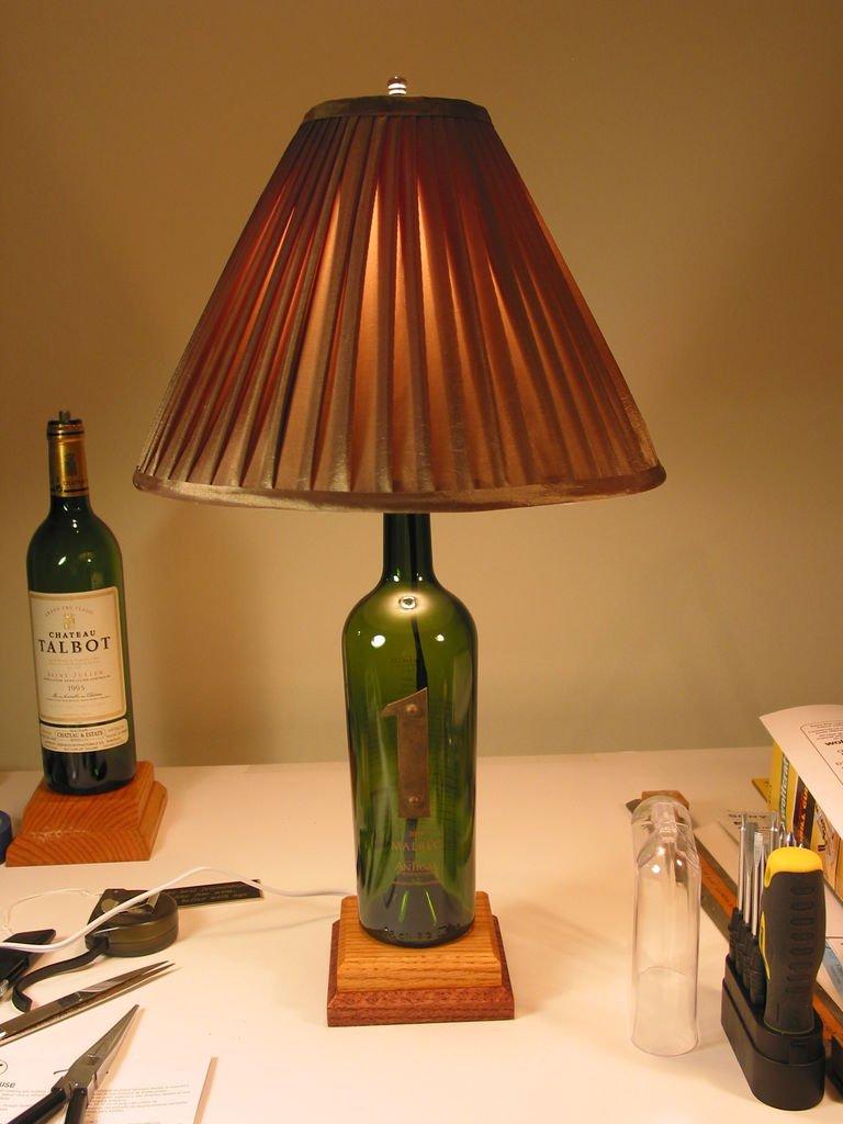 Светильник из бутылки мастер класс