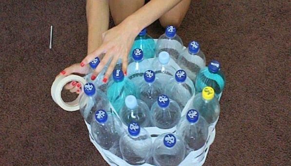 Мебель из пластиковых бутылок своими руками пошагово 95