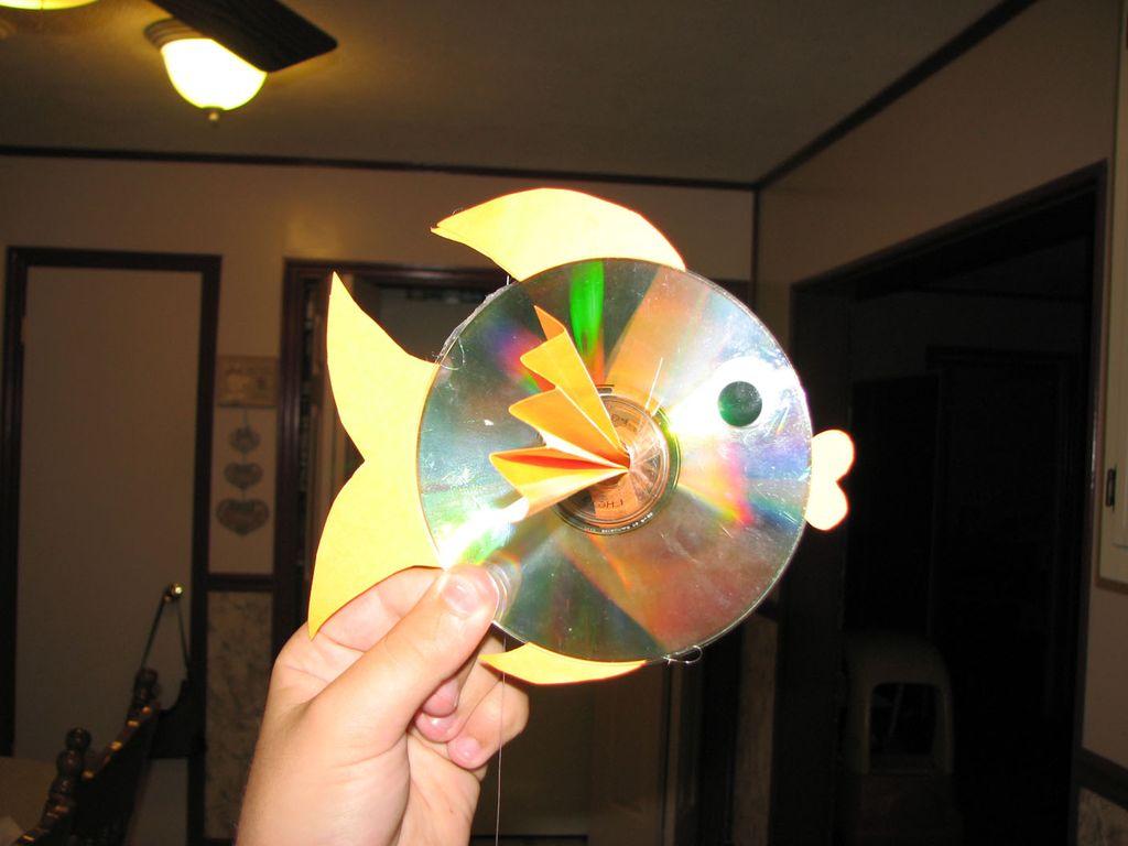 Поделки из диска своими руками для детей 93