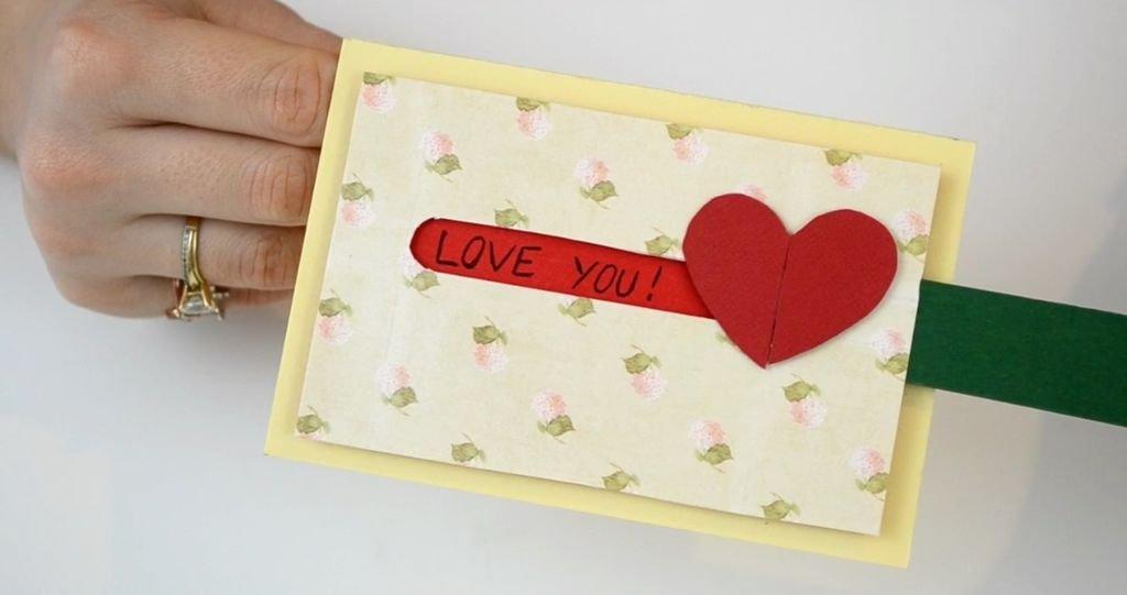 Открытка ко Дню Святого Валентина своими руками Самоделки из бумаги - BigHandMade