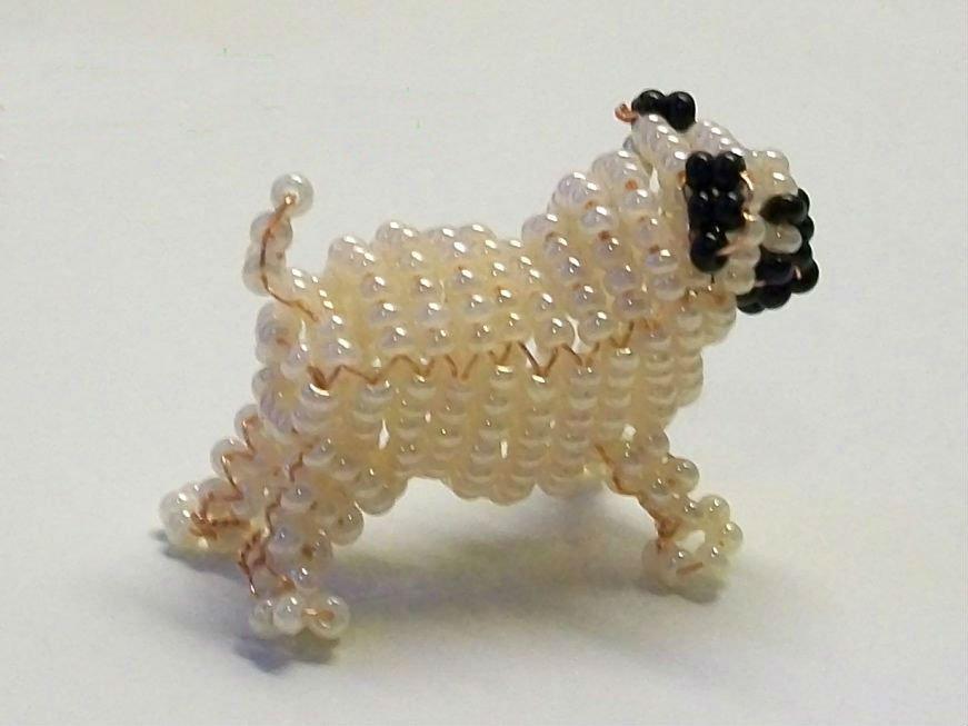 Собака из бисера своими руками